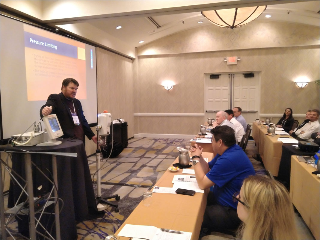 "Steve Maull presents ""Introduction to Contract Injectors"" at ICE 2020 in Scottsdale, Arizona."