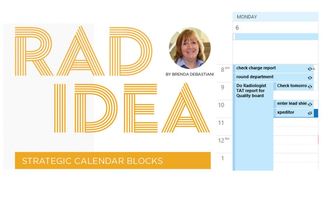 Rad Idea: Strategic Calendar Blocks