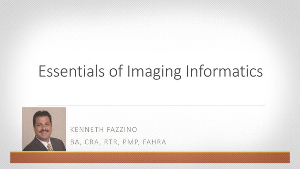 First Webinar of 2021 Covers 'Essentials of Imaging Informatics'