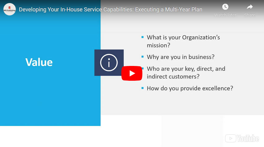 Developing Your In-House Service Capabilities: Executing a Multi-Year Plan