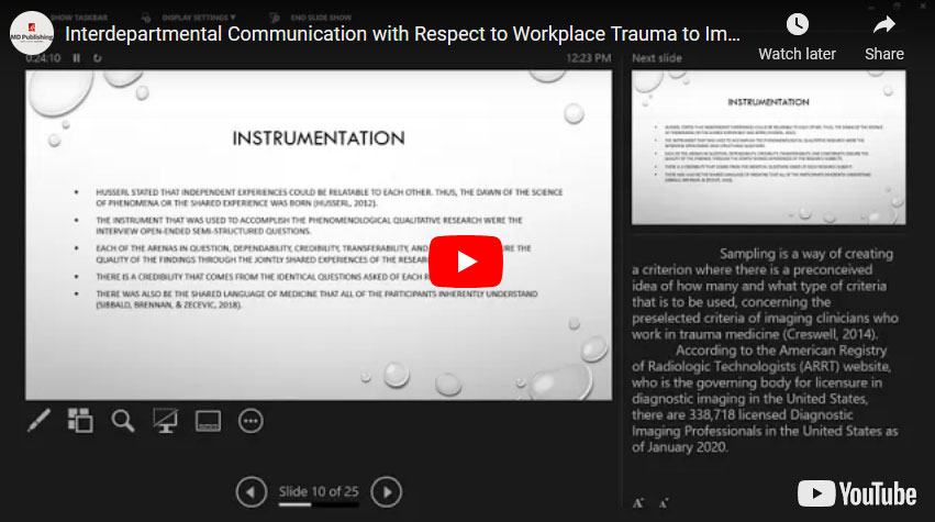 Interdepartmental Communication with Respect to Workplace Trauma to Imaging Clinicians