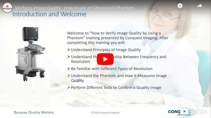 Verifying Image Quality ‑ How to use an Ultrasound Phantom