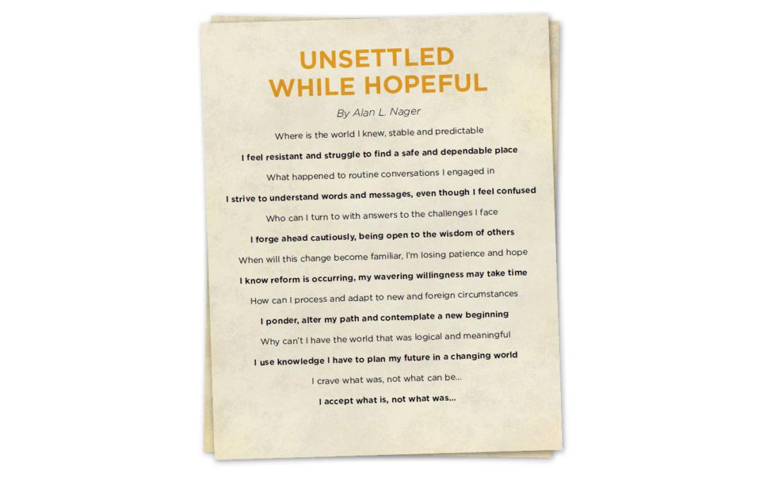 Rad Idea: Unsettled While Hopeful