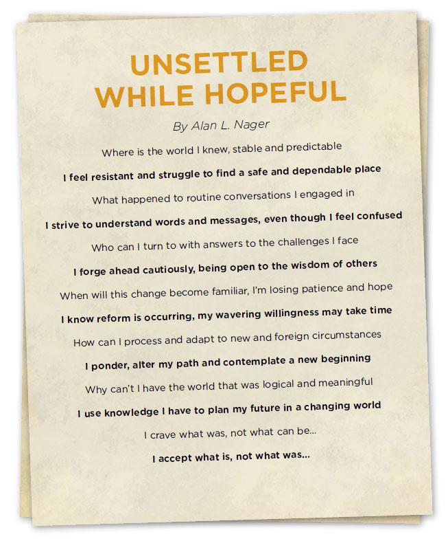 Unsettled While Hopeful